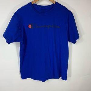 Champion Royal Blue Short Sleeve Logo T shirt XL